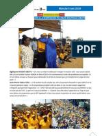 CVU INFO LOME 5 juin 2010 Réponse populaire décision suspension OBUTS Tribunal Lomé