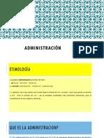 Que Es La Administración