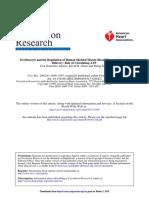 Erythrocyte and the Regulation