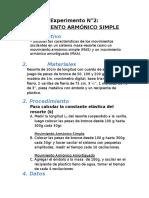EXPERIMENTO N°2 MOVIMIENTO ARMONICO SIMPLE
