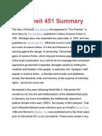 Fahrenheit 451 Summary