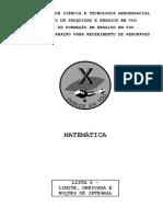 Matemtica - Lista 5 - Limite Derivada e Noes de Integral