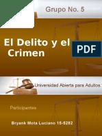 Diapositiva Delito y Crimen