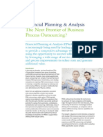 Financial Planning Analysis Next Frontier