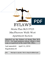 BCS 3723 Bylaws (Apartment)