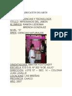Proyect PROYECTO FABRICACIÓN DE JABÓN.docxo Fabricación de Jabón