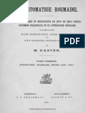 Chrestomatie română - Texte tipărite şi manuscrise [sec  XVI