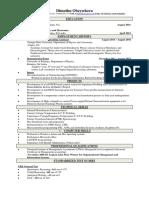 Dimuthu Obeysekera CV