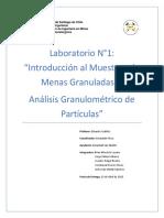 Informe N1 Laboratorio de Procesos Mineralúrgicos Con Numero