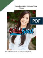 Taruhan Judi Online Deposit dan Bettingan Paling Murah