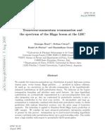 TransverseMomentumResummation Higgs LHC