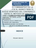 Análisis comparativo de Resistencia al avance de un Buque Bonitero entre Maxsurf y Tesis.