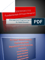 Presentation About Fundamentals of Project Management