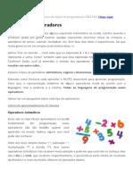 10 - Operadores - Minicurso de Lógica de Programação