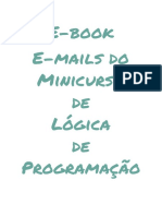 E-book E-mails Do Minicurso Lógica de Programação