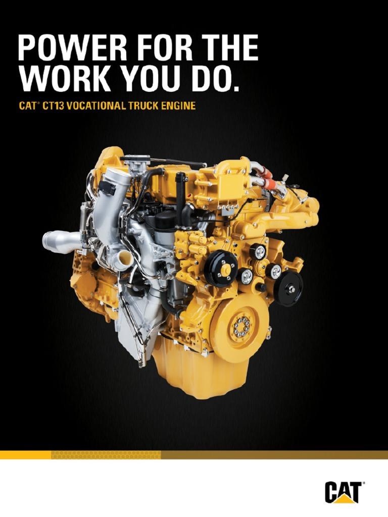 Cat Ct13 Vocational Truck Engine Brochure