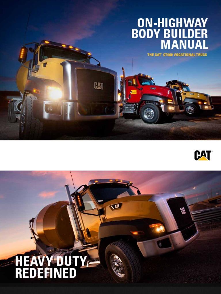 cat ct660 vocational truck body builder manual suspension vehicle rh es scribd com