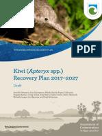 Consultation Draft Kiwi Recovery Plan 2017-2027