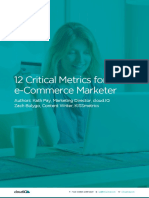 12 Critical Metrics for the Ecommerce Marketer
