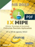 Anais Gerais IX Mipe