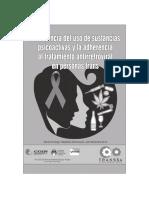 Prevalencia del uso de sustancias psicoactivas y la adherencia al tratamiento antirretroviral en personas trans