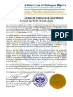 WCRR Mandate to ACC (Administrator)