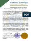 WCRR Mandate to IVU Pontifical Academy (Schools)