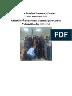 Informe Derechos Humanos y Grupos Vulnerabilizados 2015