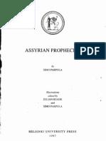 Assyrian Prophecies - Simo Parpola
