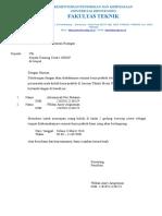 Surat Peminjaman Tc