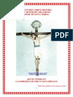 Novenario y breve historia del Señor de Santa Teresa que se venera en Chicavasco