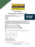 Triangulo Retangulo Relacoes Metricas e Pitagoras