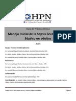 Guia Practica Clinica Sepsis 2015 Manejo Inicial de La Sepsis