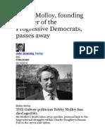 Bobby Molloy Dies Filthy Scum