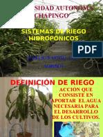 7) Riego Hidroponico