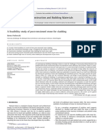 A Feasibility Study of Post-tensioned Stone for Cladding
