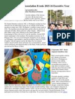 Wellington Sakai Association 2015-16 Events Newsletter