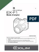 Manuel Camera Casio EXILIM - F1