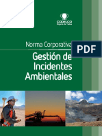 Norma de Gestion de Incidentes Medioambientales
