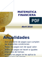Anualidades financiera