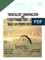 """Presentacion """"Bencaloe"""" Estudio Agroeconomico"""