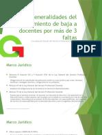 3 .Generalidades Del Procedimiento de Baja a Docentes Por Más de 3 Faltas