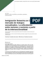 Inmigración Femenina en Chile y Mercado de Trabajos Sexualizados