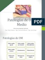 4. Patologías de Oído Medio