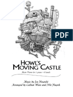 Howls Moving Castle - Main Theme 4 Hands 1 Piano