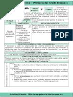 Plan 3er Grado - Bloque 1 Matemáticas (2016-2017)