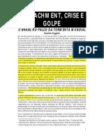COGGIOLA, Osvaldo. Impeachment e Golpe Dilma. 2016.