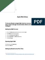Apple Mail Setup
