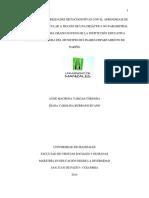 Desarrollo de Habilidades Metacognitivas Con El Aprendizaje de La Genetica Molecular San Juan de Pasto (Colombia)2014 Tesis Maestria
