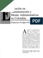 Educación en La Admon Lopez